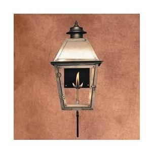Legendary Lighting Atlas 1 Copper Propane Gas Light With Wall Bracket