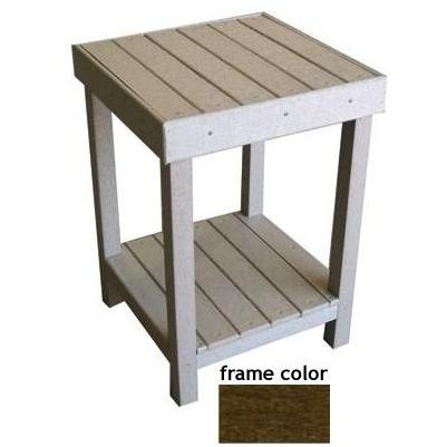 Eagle One Recycled Plastic Collier Bay End Table - Brown