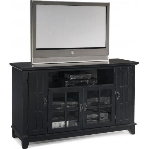 Home Styles Arts And Crafts Entertainment Credenza - Ebony - 5181-10
