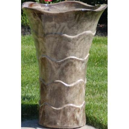 Alfresco Home Tall Tulipano Planter - Cocoa Brown