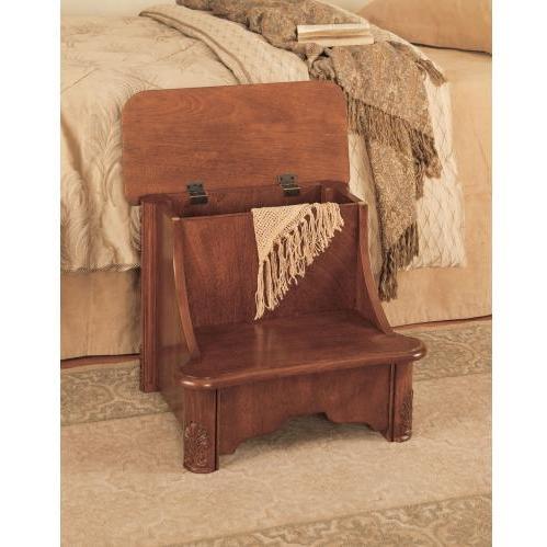 Powell Furniture - Woodbury Mahogany Bed Step With Storage - 520-535