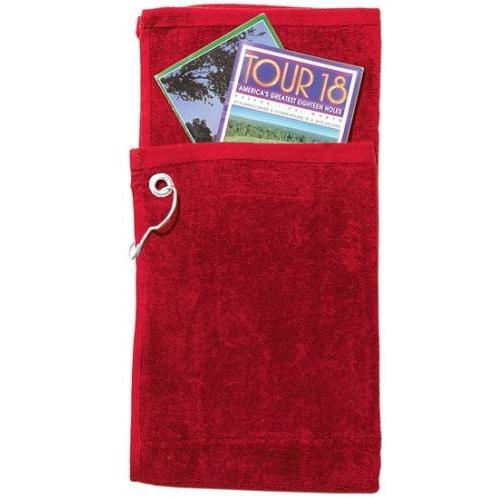 Cobra Caps Bi-Fold Golf Towel With Pocket - Red