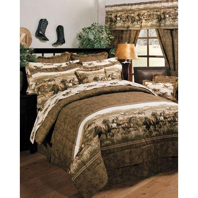 Blue Ridge Trading Wild Horses King Comforter Bedding Set