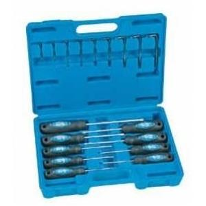 Grey Pneumatic 18 Pc. Tamper Proof Torx Screwdriver And Key Set