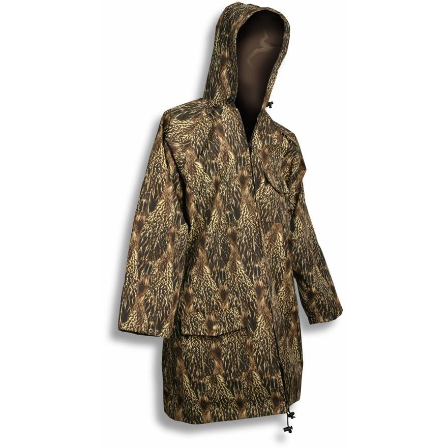 Feather Flage Duck Feather Camouflage 3 Quarter Rain Parka With Hood - XL