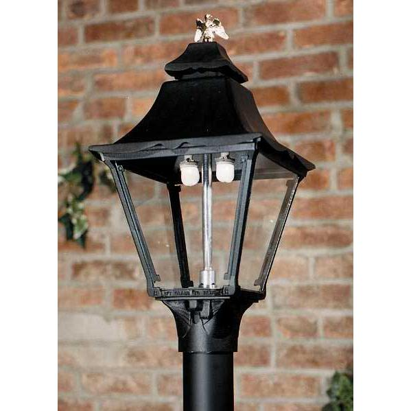 Gaslite America GL1900 Cast Aluminum Manual Ignition Natural Gas Light With Dual Mantle Burner For Post Mount