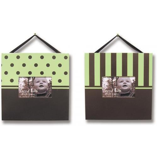 Trend Lab 2-Piece Photo Frame Set - Brown/Sage