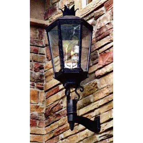 Gaslite America GL10000 Cast Aluminum Manual Ignition Natural Gas Light With Open Flame Burner And Standard Wall Mount