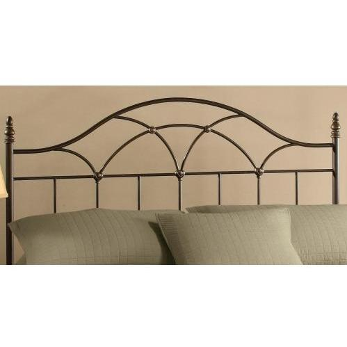 Hillsdale Aria Brown Rust Metal Headboard With Frame - Full/Queen - 1473HFQR