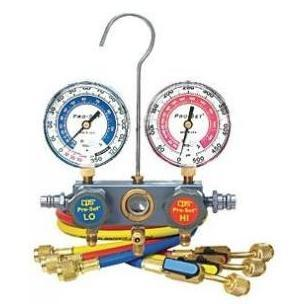 CPS Products R12 And R134a Pro-Set Aluminum Block Manifold Gauge Set With Hoses
