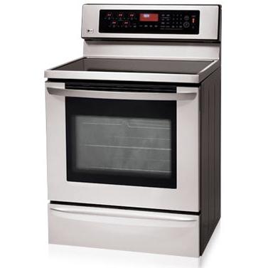 LG Ranges LRE30757ST 30 Inch Freestanding With Convection Oven And Warming Drawer Electric Range - Stainless Steel