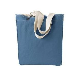 Authentic Pigment Direct-Dyed Raw-Edge Tote - Bluegrass