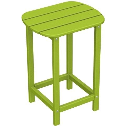 Poly-Wood Recycled Plastic Wood South Beach Adirondack Counter End Table - 15 Inch Square