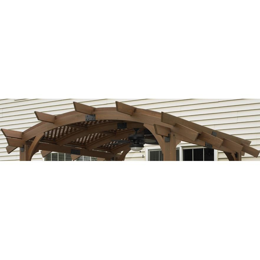 Outdoor GreatRoom Company Lattice Roof For Sonoma 10 X 10 Pergola - Mocha Finish