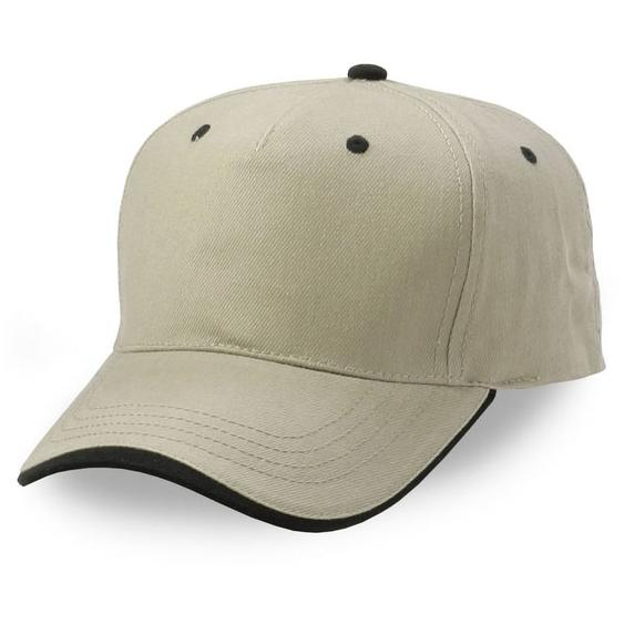 Cobra Caps Heavy Brushed Cotton Wave Sandwich Cap - Khaki/Black