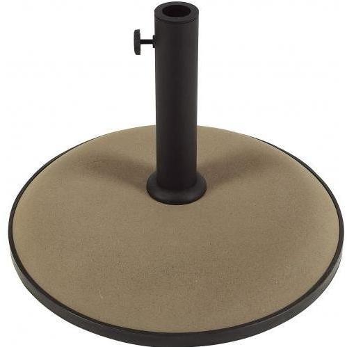 FiberBuilt Outdoor Umbrellas Round Champagne Bronze Concrete Umbrella Base