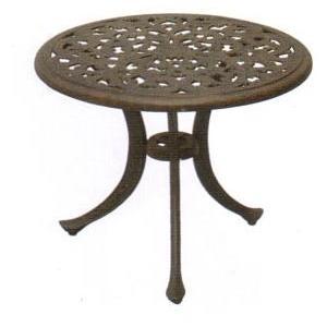Darlee Catalina Cast Aluminum Outdoor Patio End Table - 21 Inch Round - Antique Bronze