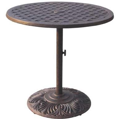 Darlee Series 30 Cast Aluminum Outdoor Patio Counter Height Pedestal Bar Table - 30 Inch - Antique Bronze