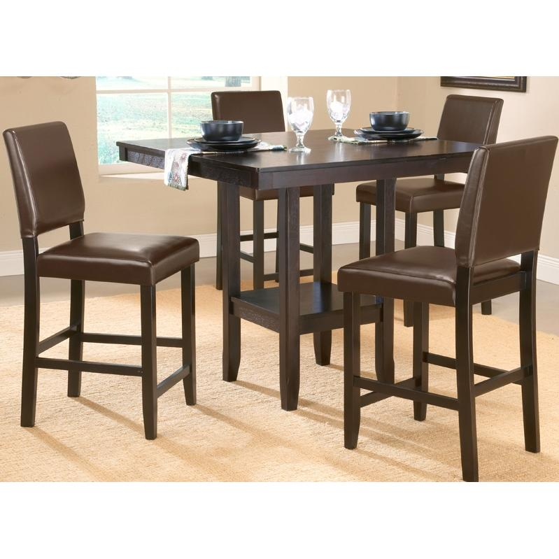 Hillsdale Arcadia Counter Height Dining Set With Parson Stools 5 Piece - 4180DTBSPG