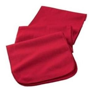 Augusta Full Length Athletic Fleece Scarf - Red