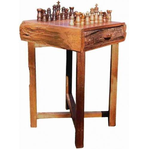 Groovy Stuff Teak Wood Hill Country Chess Table Small - TF-538-S