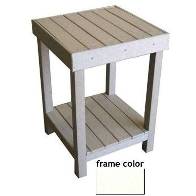 Eagle One Recycled Plastic Collier Bay End Table - White