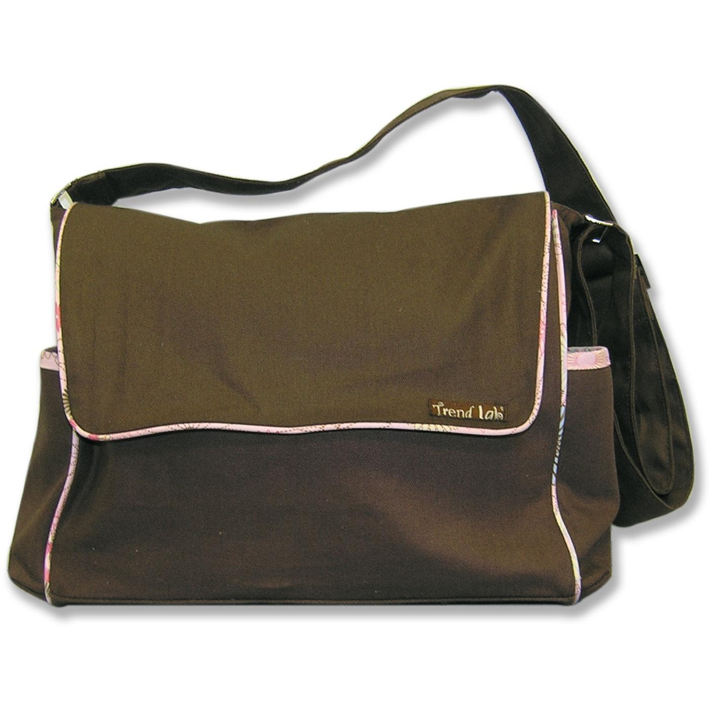 Trend Lab Messenger Diaper Bag - Brown/Spirograph