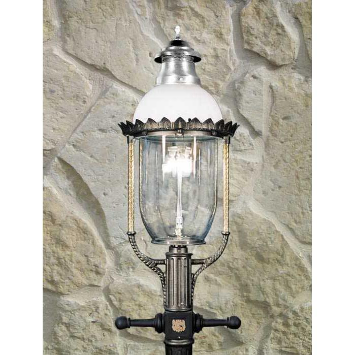 Gaslite America GL36 Cast Aluminum Manual Ignition Natural Gas Light With Open Flame Burner For Post Mount