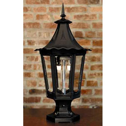 Gaslite America GL1400 Cast Aluminum Manual Ignition Natural Gas Light With Open Flame Burner And Pedestal Mount