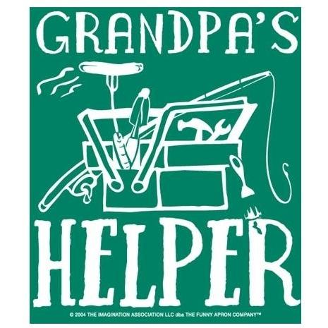 Grandpas Helper Apron And Chef Hat - Child Size