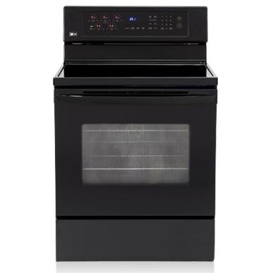 LG Ranges LRE30453SB 30 Inch Freestanding With Convection Oven Electric Range - Black