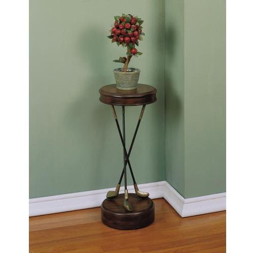 Powell Furniture - Masterpiece Warm Pecan Golf Themed Accent Table - 388-267