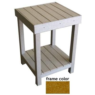 Eagle One Recycled Plastic Collier Bay End Table - Cedar