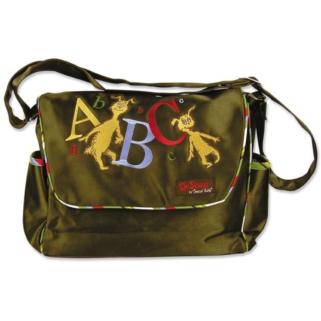 Trend Lab Messenger Diaper Bag - Dr Seuss ABC