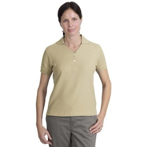Port Authority Ladies 100 Percent Pima Cotton Polo Shirt XL - Stone