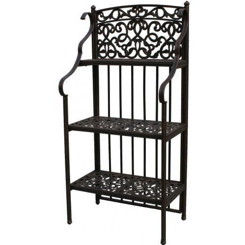 Darlee Cast Aluminum Outdoor Patio Bakers Rack - Antique Bronze