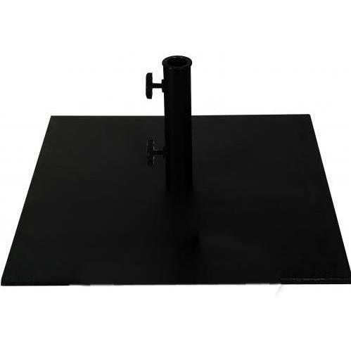FiberBuilt Outdoor Umbrellas 26.5 Inch Square Black Steel Umbrella Base With Wheels