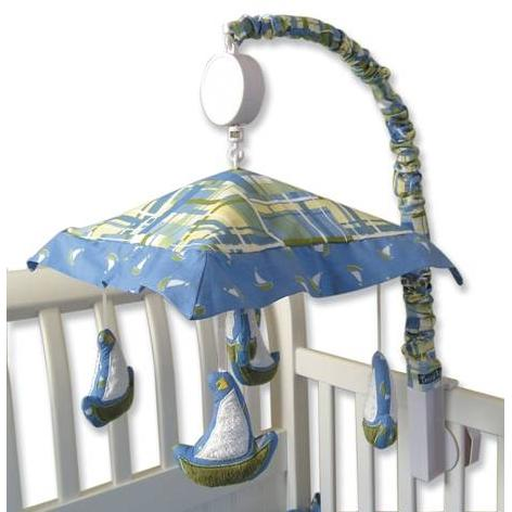 Trend Lab Musical Crib Mobile - Nantucket Blue