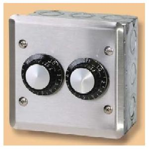 120V Double Input Regulators Stainless Steel Wall Plate And Deep Gang Box