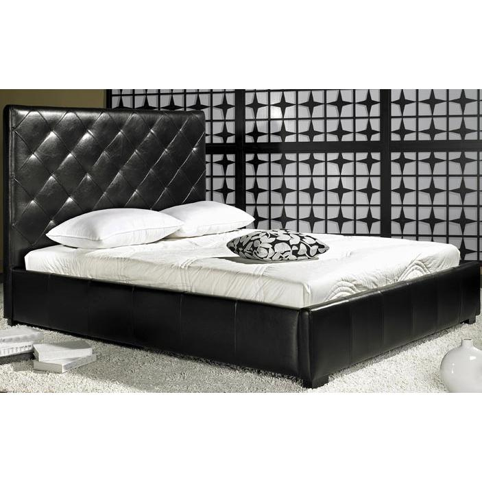 Abbyson Living Embassy Leather Queen Bed Espresso LI-HC005-QU