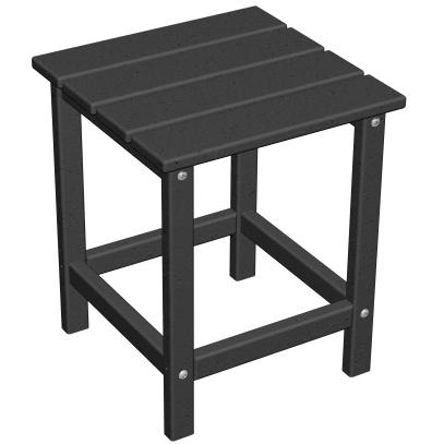 Poly-Wood Recycled Plastic Wood Long Island Adirondack End Table - 15 Inch Square