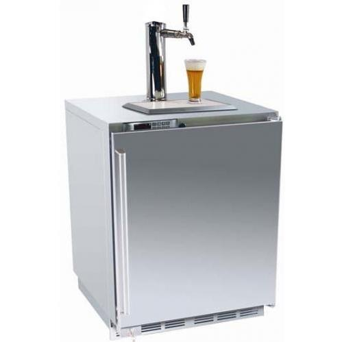 Perlick HP24TS-1L1 5.3 Cu. Ft. Capacity Built In Kegerator / Refrigerator - Stainless Steel